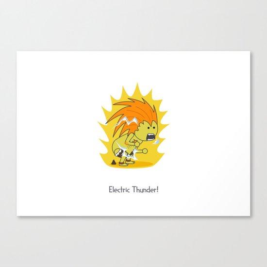 Electric Thunder! Canvas Print