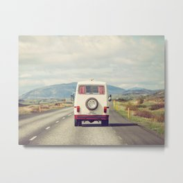 Road Trip - Iceland Landscape, Travel Photography Metal Print