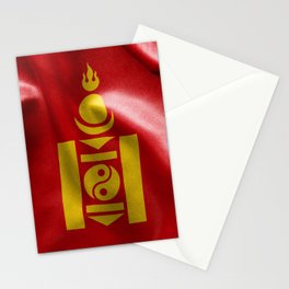 Mongolia Flag Stationery Cards