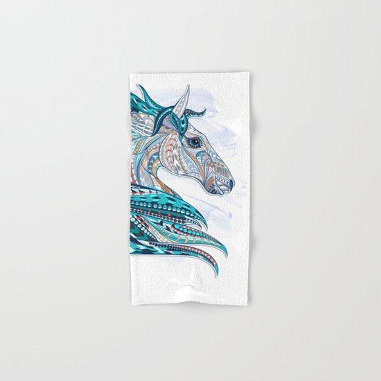Blue Ethnic Horse Hand & Bath Towel