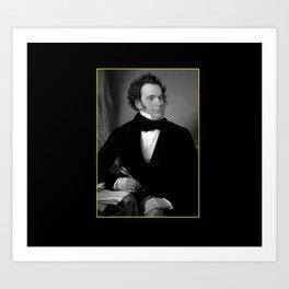 August rieder-Portrait of Schubert Art Print