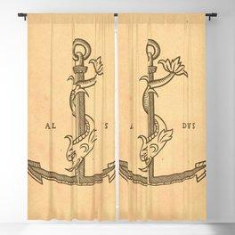 Aldus Manutius Printer Mark Blackout Curtain