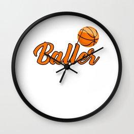 Nebraska Just a baller Basketball Wall Clock