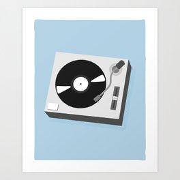 Turntable Illustration Art Print