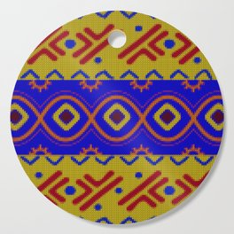 Ethnic African Knitted style design Cutting Board