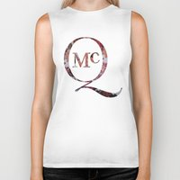 steve mcqueen Biker Tanks featuring McQueen by TOM MONFORTI