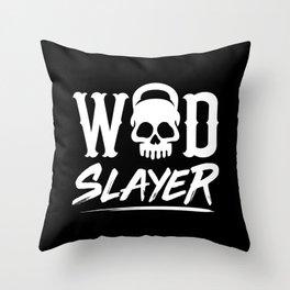 WOD Slay er Skull Throw Pillow