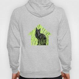 Black House Cat on Grass Hoody