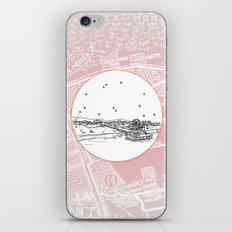 Santa Monica Pier, California City Skyline Illustration Drawing iPhone & iPod Skin
