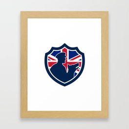 British Police Canine Team Crest Icon Framed Art Print