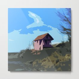 A Beautiful house on the hill Metal Print