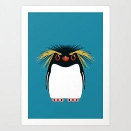 Rockhopper Penguin Art Print