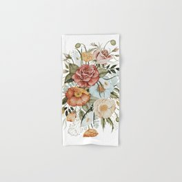 Roses and Poppies Hand & Bath Towel