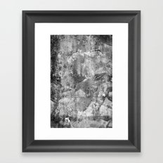 Abstract Concrete Grunge Framed Art Print