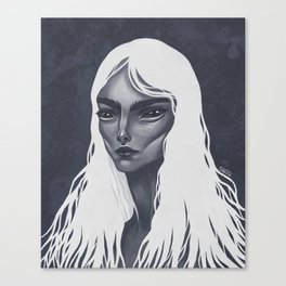 White Haired Canvas Print