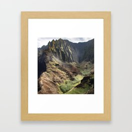 Touched by the Divine: Hawaii's Kalalau Valley Framed Art Print