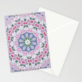 Country Lace Style Kaleidoscope Pattern Stationery Cards