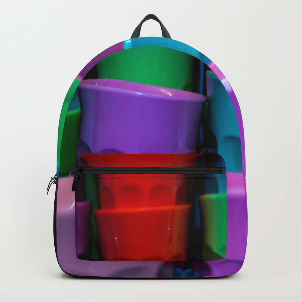Plastic Coloured Cups Backpack by Arc1 BKP7887299