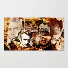 Jame Dean - Grunge Style - Canvas Print