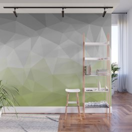 light green and grey polygon Wall Mural