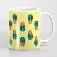 pineapples Mugs featuring PINEAPPLES by Heaven7