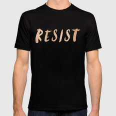 RESIST 7.0 - Rose Gold on Navy #resistance Black 2X-LARGE Mens Fitted Tee