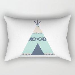 Mint Tipi Rectangular Pillow