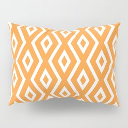 Orange Diamond Pattern Pillow Sham