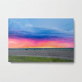 Stormy June Sunset, North Dakota 2 Metal Print