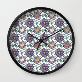 bad flower Wall Clock