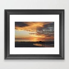 sunset over Broome Framed Art Print
