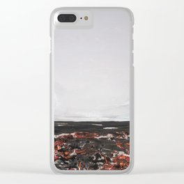 Abstract shores, coastal Clear iPhone Case