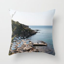 Mediterranean Summer in Greece Throw Pillow