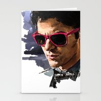 darren criss Stationery Cards featuring Darren by Monika Gross