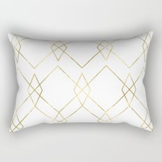 Gold Geometric Rectangular Pillow