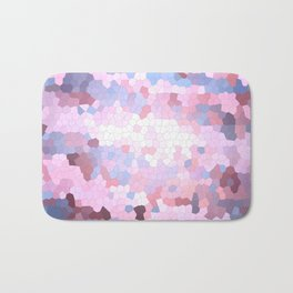 Abstract Stained glass violet mosaic Bath Mat