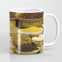 egyptian Mugs featuring Egyptian Spices by Brian Raggatt