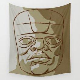 Olmeca Head Wall Tapestry