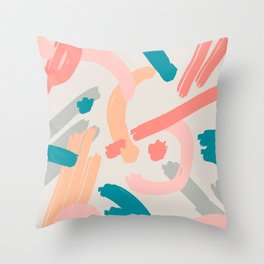 Abstraction. Series: Oil Paint Smears. Culinary fantasy. Dessert. Throw Pillow