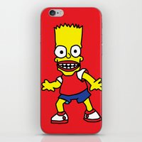 simpson iPhone & iPod Skins featuring Bart Simpson by GOONS