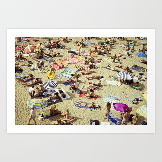 Beach pattern Art Print
