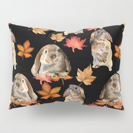 Rabbits and autumn leaves Pillow Sham