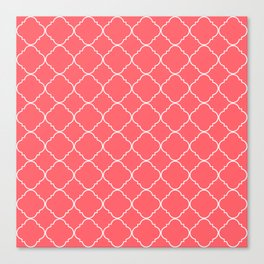 Coral Red Moroccan Canvas Print