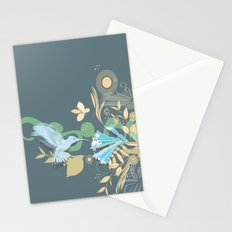 Hummingbird leaf tangle Stationery Cards