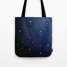 Midnight Blue to Stars in Droplets Polka Dots Tote Bag