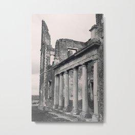 Mansion Walls & Roman Coloumns Metal Print
