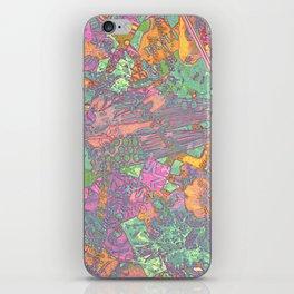 Denim Collage Print iPhone Skin