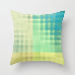 chlorine in the pool Throw Pillow