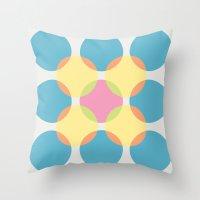 circles Throw Pillows featuring Circles by LightCircle
