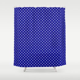 Blue and White Stars Shower Curtain